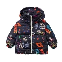 autumn and winter new childrens 90 white duck down jacket letters graffiti down jacket tide boys tops girl kids down jackets