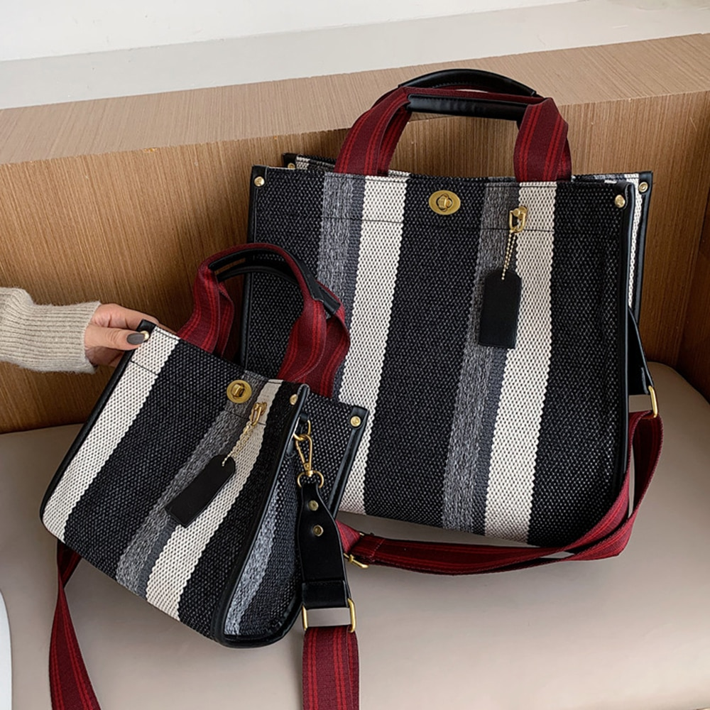 S.IKRR Canvas Shoulder Bags For Women 2021 Women's Brand Big Capacity Female Bag Purses and Handbag Designer Tote Shopper Bag