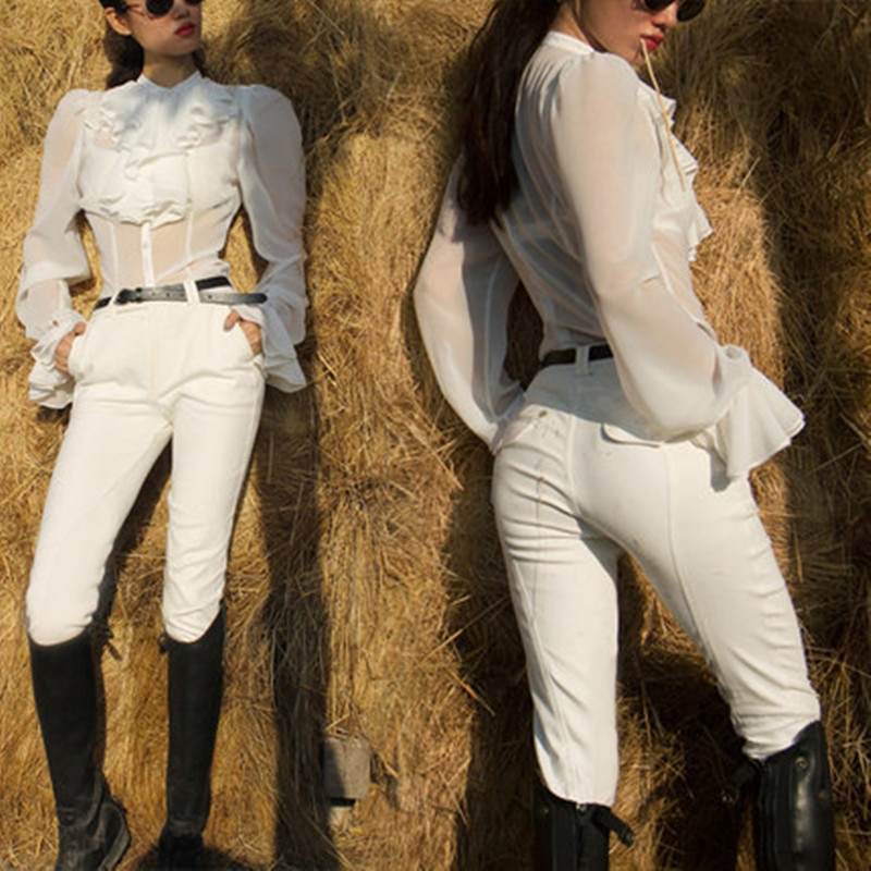 Horse Riding Pants For Women Equestrian Chaps Horseback Breeches Autumn Winter Vest Jacket Horse Rider Clothes Female Equipment