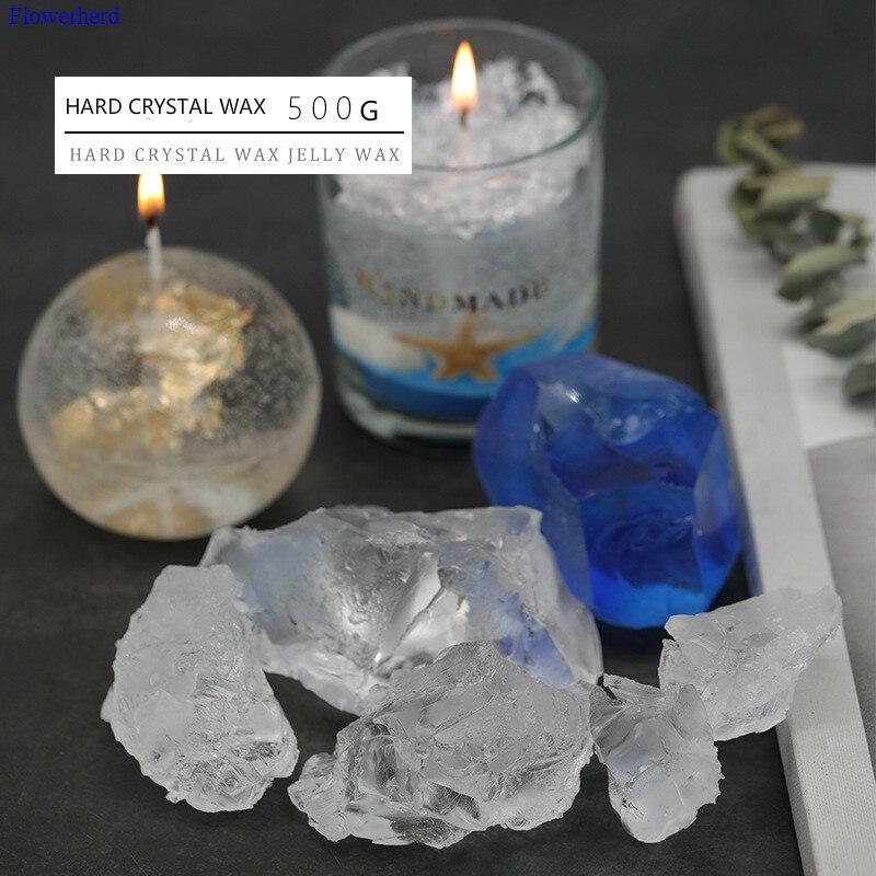 500g Harte Kristall Wachs Hohe Schmelzpunkt Gelee Wachs Korean Harte Transparent Wachs Duft Kerze DIY Material Wachs Raw material