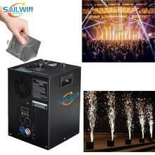 İspanya stok 400W havai fişek DMX soğuk Spark makinesi Sparkular düğün kulübü için DJ ışık çeşme şelale etkileri titanyum tozu