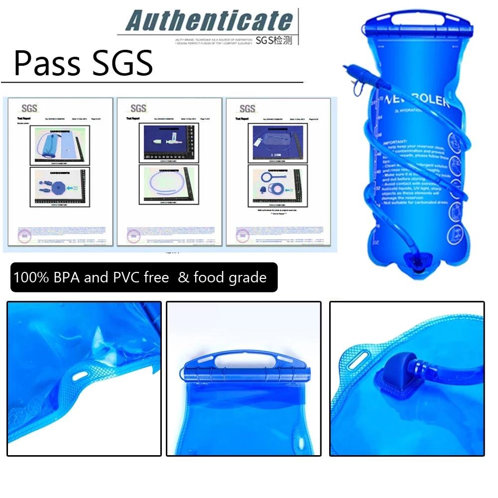 Water Reservoir Hydration Pack Water Bladder Bag  1L 1.5L 2L 3L Storage Bag BPA Free Trail Running Hydration Vest Backpack
