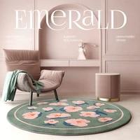 round carpet creative living room bedroom bedside blanket round home desk swivel chair floor mat summer retro