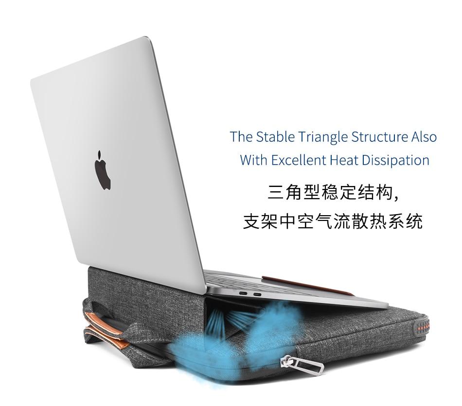 WiWu-حقيبة كمبيوتر محمول مع حامل ، 1314 بوصة ، لهاتف Huawei Apple Dell ، بيع مباشر من المصنع