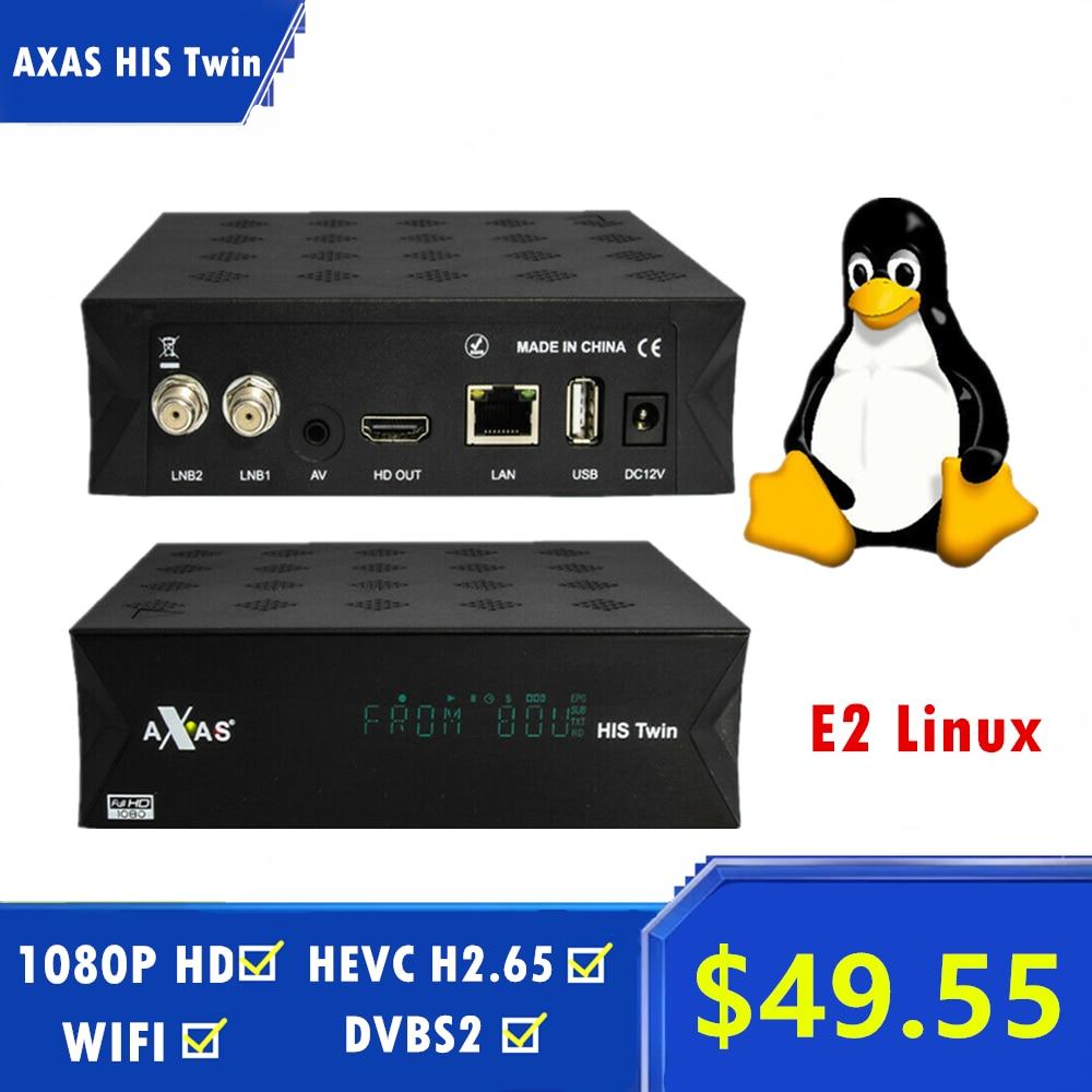 Axas son double DVB-S2/S HD récepteur de télévision par Satellite WiFi + Linux E2 ouvert ATV 6.2 Linux boîtier décodeur intelligent
