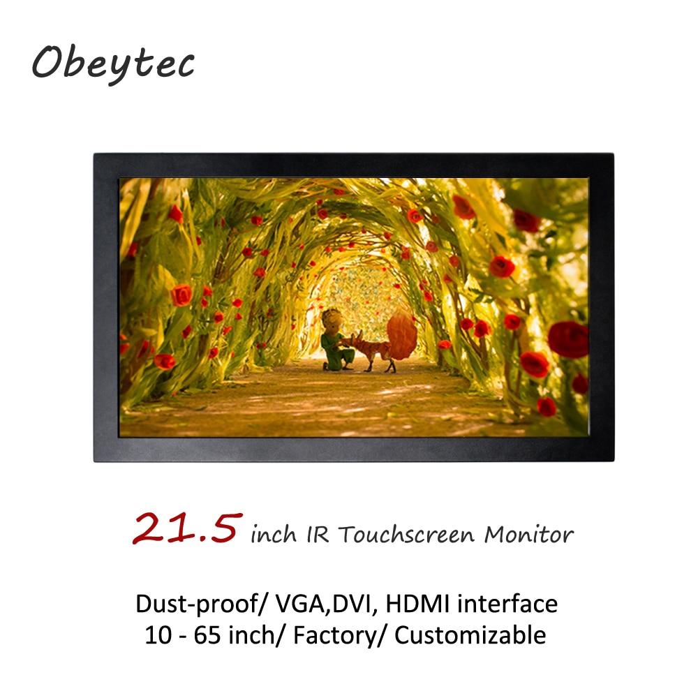 "Obeytec 21.5 ""IP65 touchscreen monitor, IR touch screen, 2-10 punkte, cd/m2, 1920*1080, ansicht bereich 476.64(H)× 268.11(V)mm"