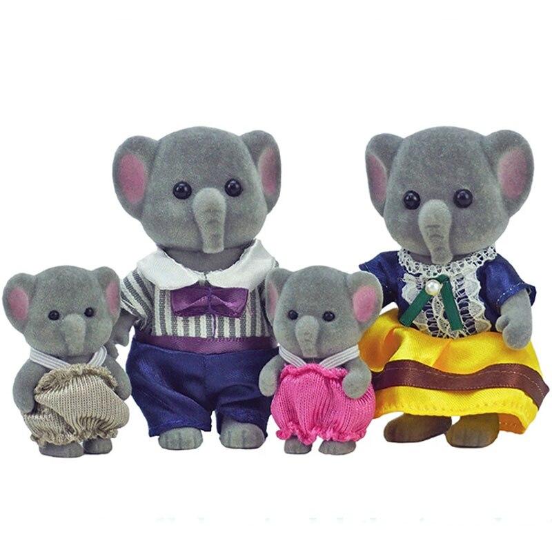 Лесной кролик, семья Elephont, кукла, искусственная мебель, игровой набор «сделай сам», игровой домик для девочек, плюшевые игрушки