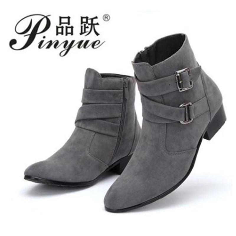 الرجال الأحذية موضة ستوكات الجلود فراء الأحذية الشتاء Nubuck الجلود الدافئة حذاء رجالي في الهواء الطلق