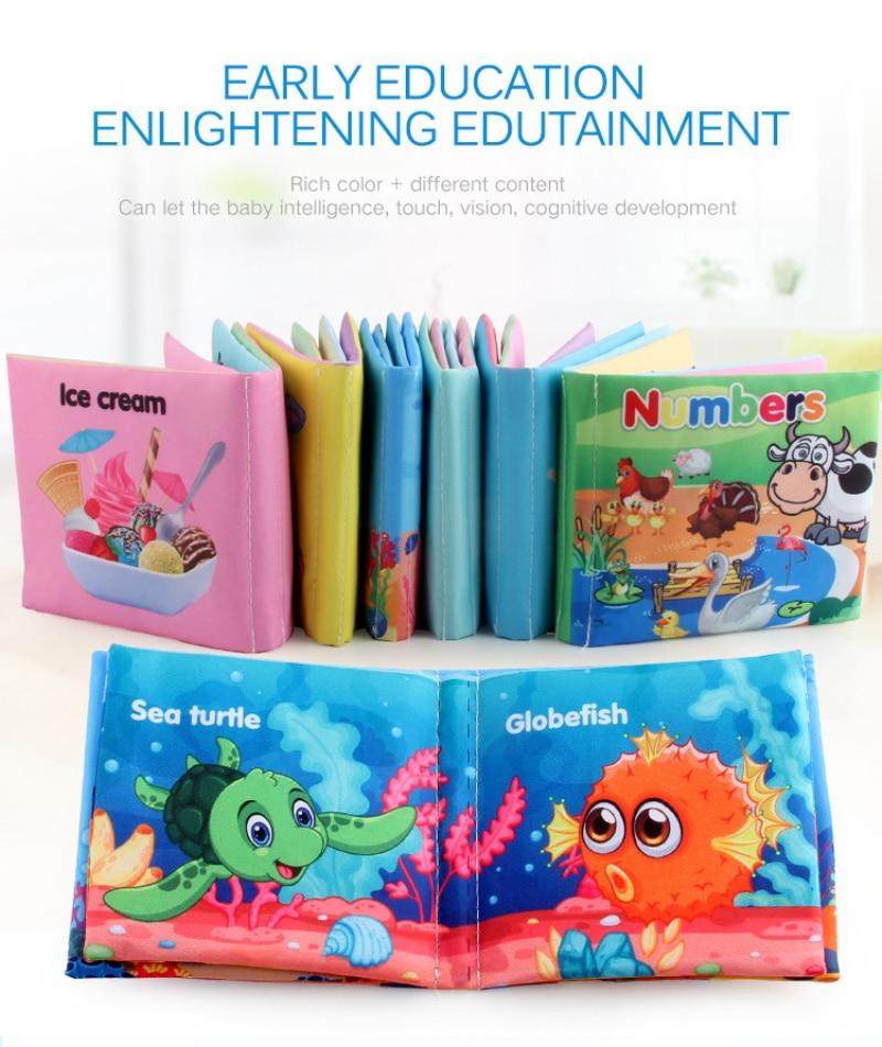 Baby Buch Weichen Tuch Bücher Kleinkind Neugeborenen Frühen Lernen Entwickeln Erkennen Lesen Puzzle Buch Spielzeug Infant Ruhig Buch Für Kinder