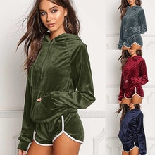 Warm sex 2020 New Design Fashion Hot Sale Suit Set Women Tracksuit Two-piece Style Outfit Sweatshirt Sport Wear
