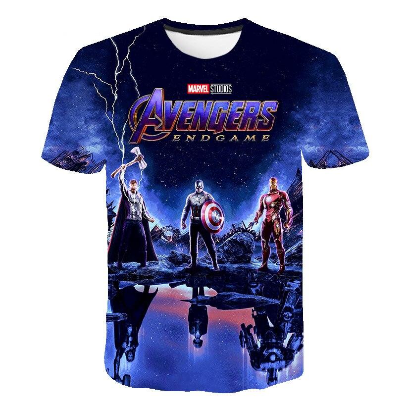 2020 gran oferta Los vengadores de Marvel 4 Final camiseta 3D estampado superhéroe EE. UU. Camiseta Cosplay camiseta de los nuevos vengadores del chico camiseta