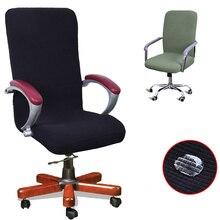 Moderne 9 couleurs Spandex ordinateur chaise couverture 100% Polyester élastique tissu bureau chaise couverture facile lavable amovible