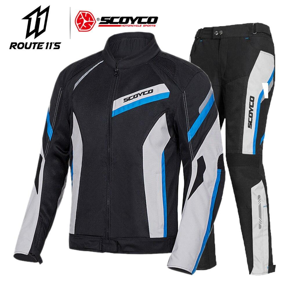 SCOYCO-سترة دراجة نارية للدراجات النارية ، وسترة موتوكروس عاكسة ، وحماية قابلة للتنفس لفصل الصيف