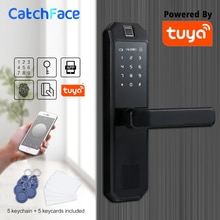Serrure de porte intelligente WIFI   Serrure à empreintes digitales, carte à Code, écran tactile, verrouillage de porte électronique, avec APP intelligente Tuya