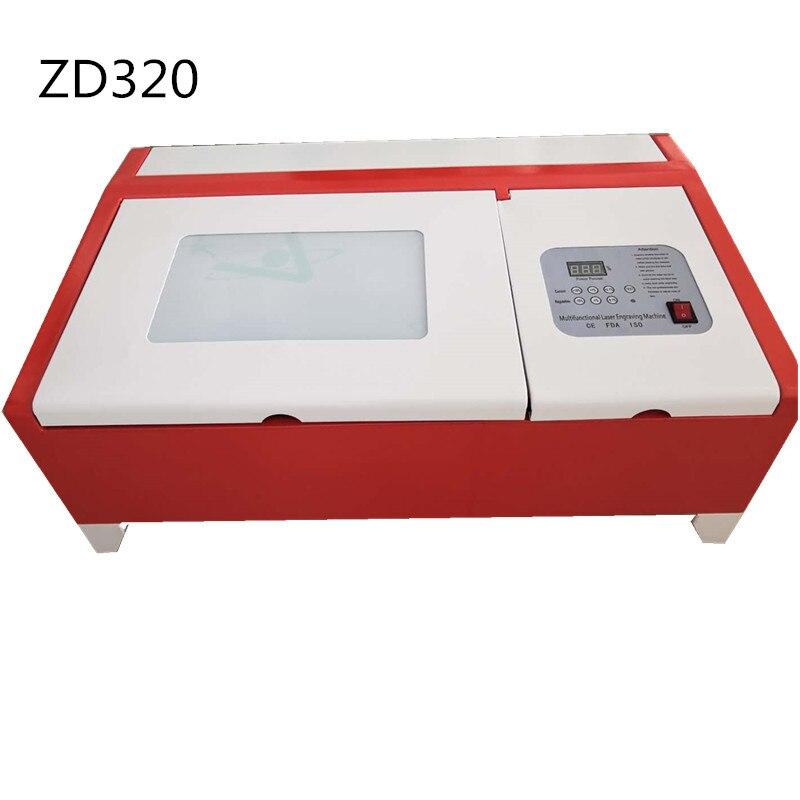 Máquinas de corte por láser para sellos de goma 3020 40w CO2 máquina de grabado láser de escritorio láser Mini cortador de grabado para no metálicos