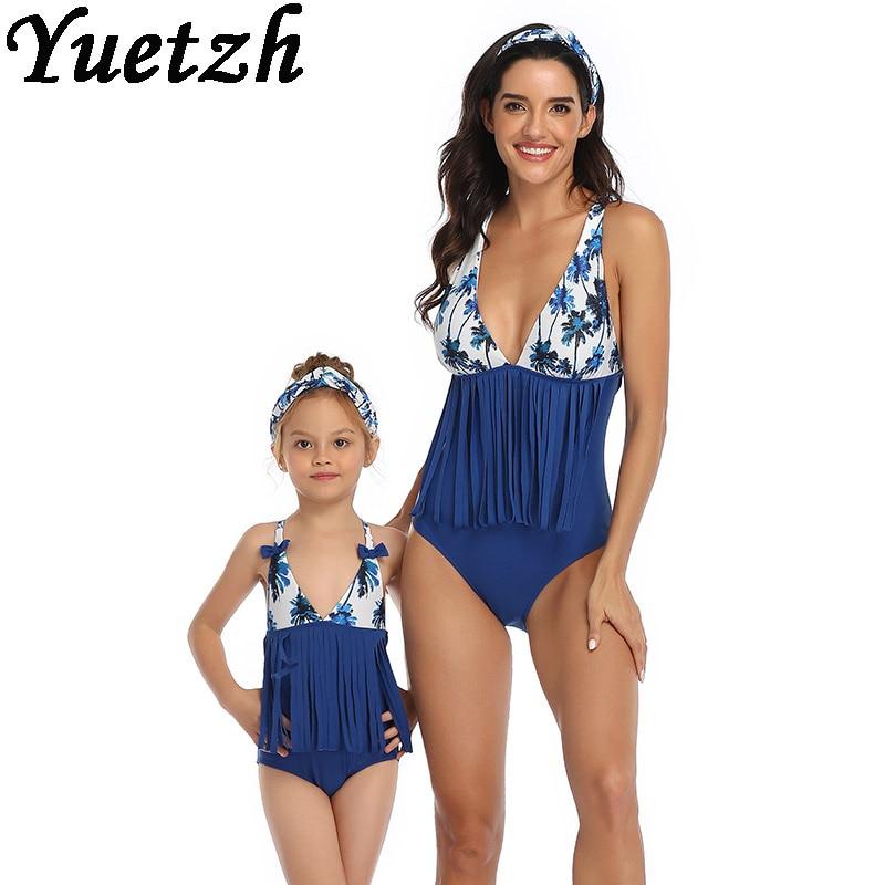 women girls swimwear one piece swimsuit kids children swim suits for women swimming wear mother daug