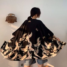 Kimono Robe Women Men Couple Japanese Style Ao Dai Thin Coat Streetwear Cardigan Chinese Yukata Haori Thailand Vietnam Clothing