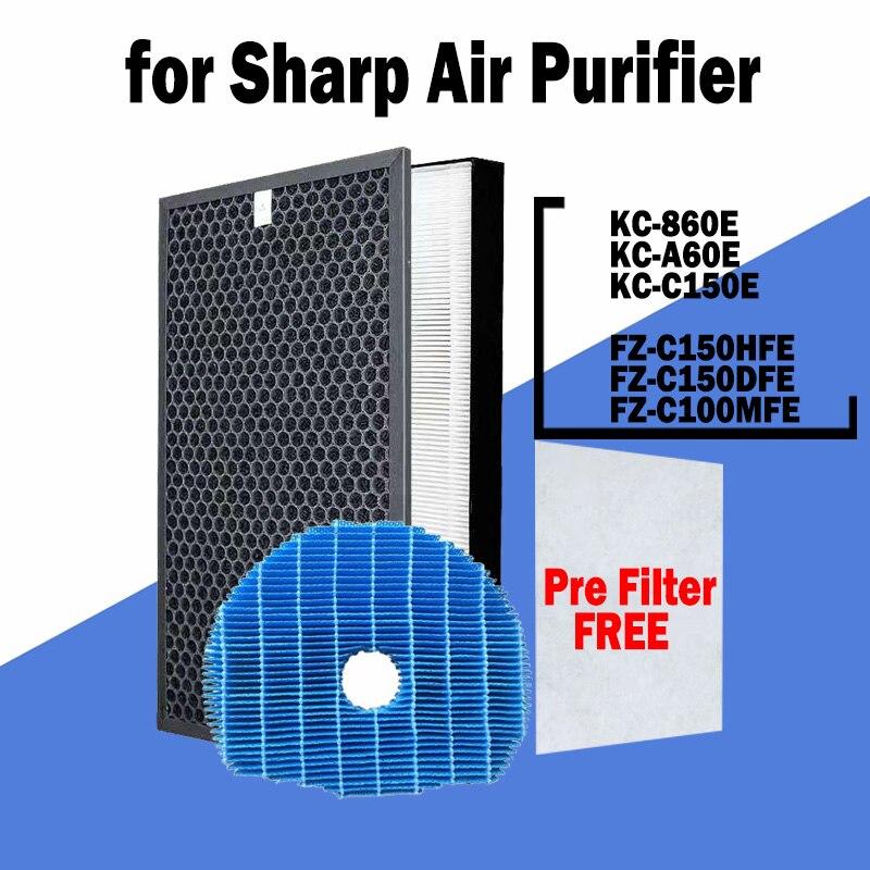 hepa фильтр sharp fz f30hfe для kc f31r FZ-C150HFE FZ-C150DFE FZ-C100MFE Air Purifier Hepa Filter and Carbon Filter for Sharp KC-A60E KC-860E KC-C150E KC-860U Series