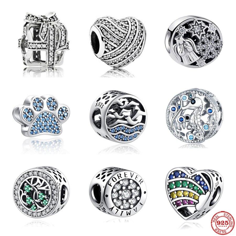 Cuentas de plata esterlina 925 para mujer, joyería Original compatible con Pandora...