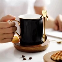 creative meow coffee spoon stainless steel stirring spoon cute cake spoons drink hanging cup stirring spoons cake small spoones
