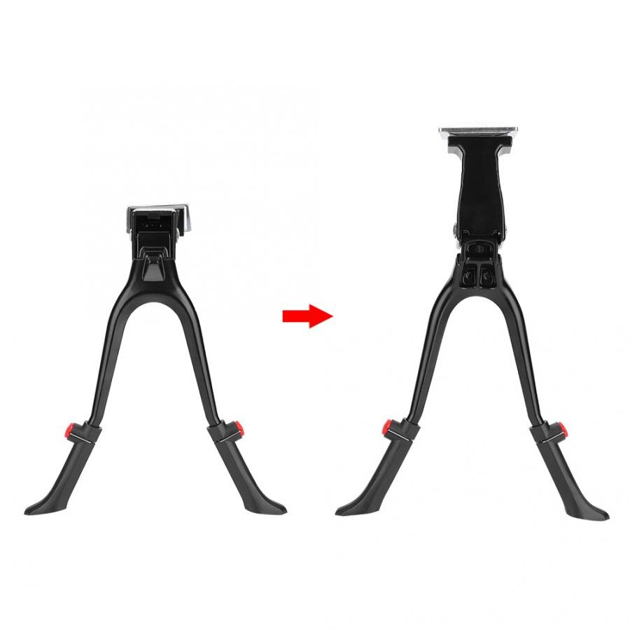 Au eua bicicleta kickstand ajustável altura centro de montagem da bicicleta pé duplo suporte de bicicleta lateral traseiro pontapé se encaixa 24-28 polegada bicicleta