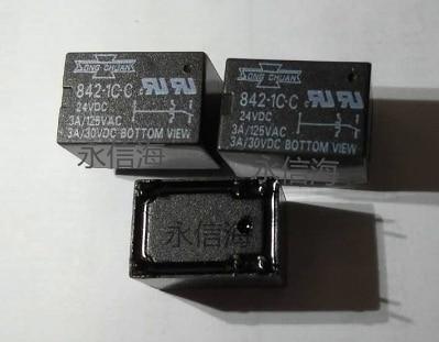 24V relé 842-1C-C-24VDC 842-1C-C 24VDC 8421CC 24V 24VDC DC24V 3A 125VAC DIP6