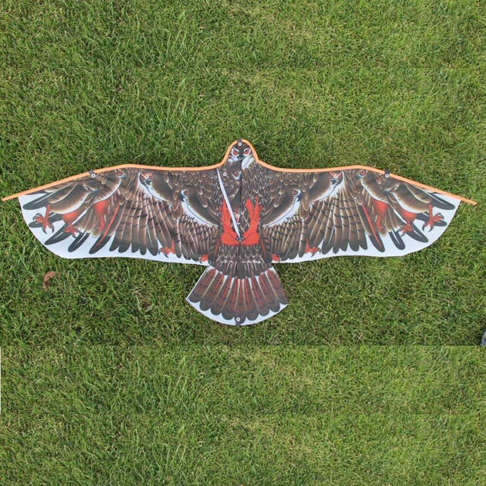 1,1/1,4 m plana de águila con 30 metros de hilo para cometas niños volando cometas de pájaros manga de viento al aire libre juguete tela para jardín juguetes para niños de regalo