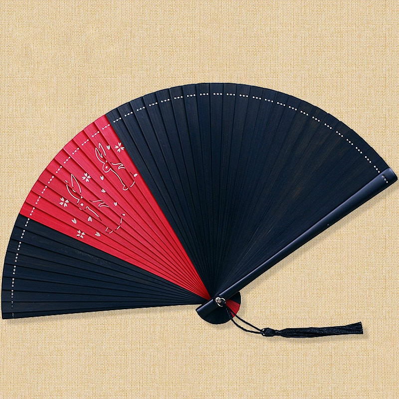 Abanico de baile plegable de bambú Para mujer, ventilador plegable estilo chino,...