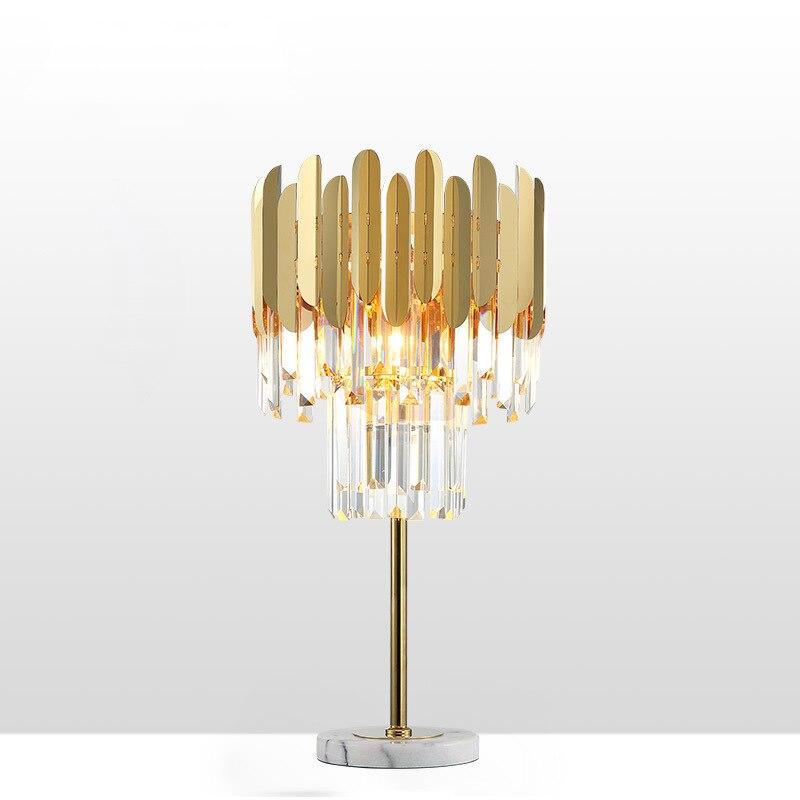 Art Deco LED postmoderna de oro de acero inoxidable cristal lámpara LED luz LED lámpara de escritorio lámpara LED Dest lámpara para dormitorio