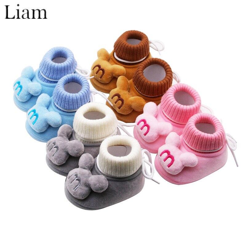 Zapatos de algodón de invierno para bebé de dibujos animados de Liam, cabina bonita para niña, botines suaves y cómodos de Otoño de alta calidad, zapatos de bebe