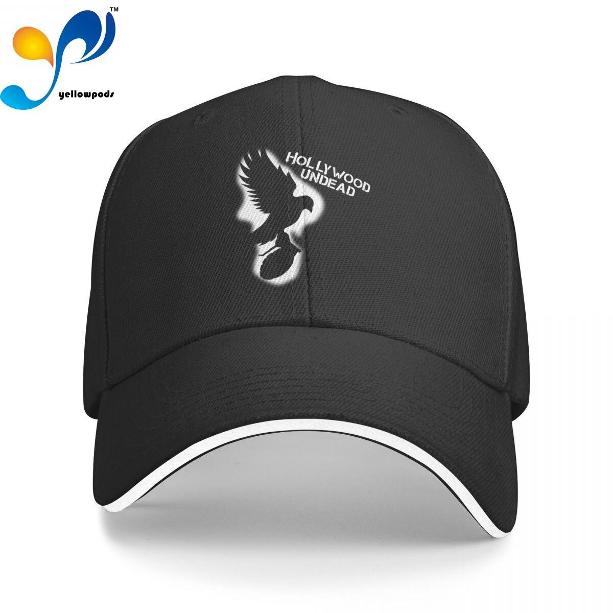 Хлопковая кепка унисекс для женщин и мужчин, модная бейсболка с логотипом Hollywood Undead, регулируемая уличная шапка