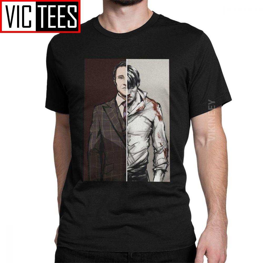Hombres las mesas están girando Hannibal Variant camiseta Lecter Mads Horror Hannigram algodón camiseta de gran tamaño