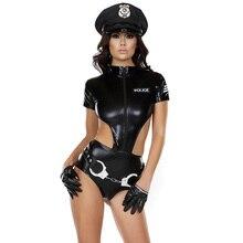 Merveille beauté Halloween menottes Costumes de Police Cosplay Costume de policier Sexy PVC Costumes de chat jeux de rôle Costumes de flic