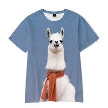 Cartoon Cute Alpaca 3D T shirt Men Women Harajuku Tees Funny Tops Kpop Streetwear T Shirt Casual Mal