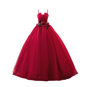 Lace Burgundy Dress  Quinceanera Dress Spaghetti Strapless Sleeveless Ball Gown Flower Women Puffy Dresses For Prom 15 Dresses