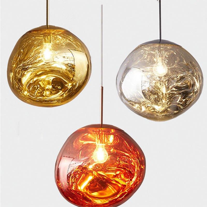 Lava Pendant Lights Melt Pendant Lamp  For Living Room Kitchen Bar Hanging Lamps Glass Light Fixture Dinning Room E27/26 Stone