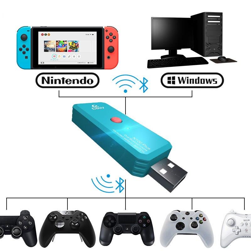 Coov N100 PLUS для PS4/Xbox One беспроводной контроллер конвертер адаптер для Nintendo Switch NS проводной геймпад конвертер для джойстика