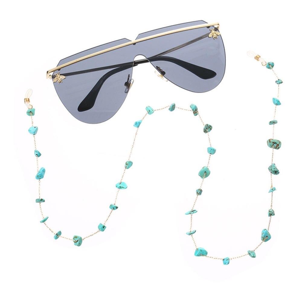 1 Uds turquesa cadena para gafas de lectura moda elegante gafas de sol titular cuello Correa cuerda Metal gafas cuerda cordón colgante