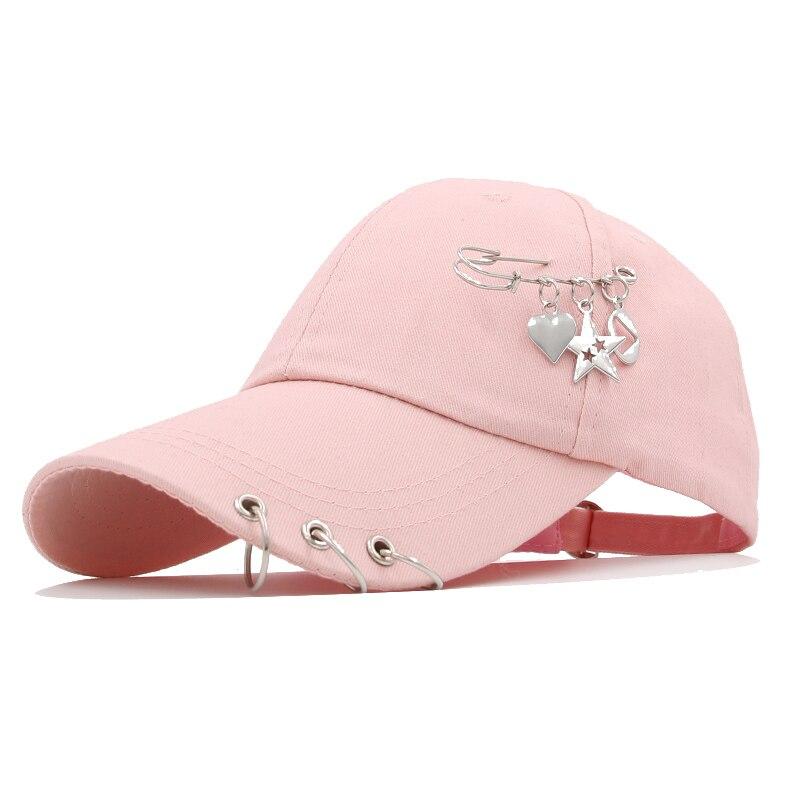 Новая модная бейсболка с железным кольцом для мужчин и женщин, кепка, бейсболка, головные уборы, новые головные уборы