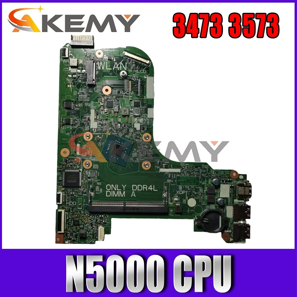Akemy 17831-1 3C99P For Dell Inspiron 3473 3573 laptop Motherboard CN-0D95JV D95JV N5000 CPU Mainboard 100%Tested