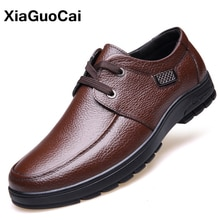 Spring Autumn Man Shoes Luxury British Men Leather Casual Shoes High Quality Business Male Flats Lac