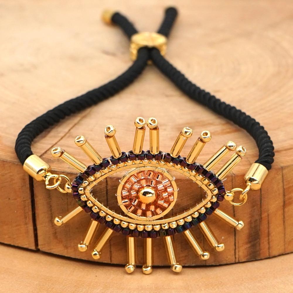 Pulsera Go2boho para mujer, MIYUKI, Pulseras de cuentas de cristal, joyería mexicana, Pulseras turcas de ojo malvado hechas a mano, regalo tejido