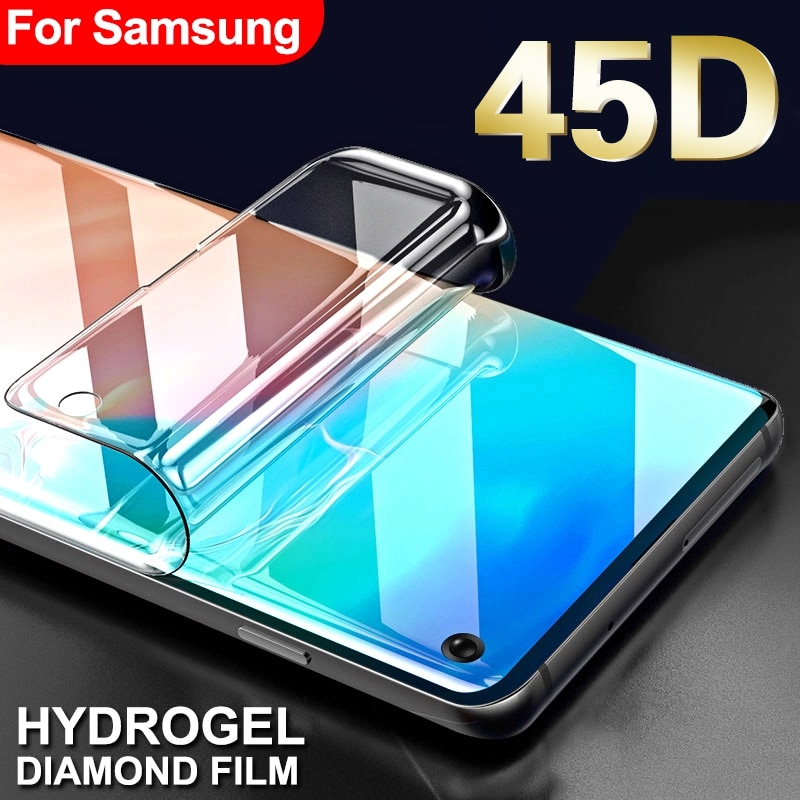 45D Защитная Гидрогелевая пленка для samsung galaxy S8 S9 S10 Plus S10e Защитная пленка для экрана для galaxy S6 S7 edge Note 8 9 не стекло
