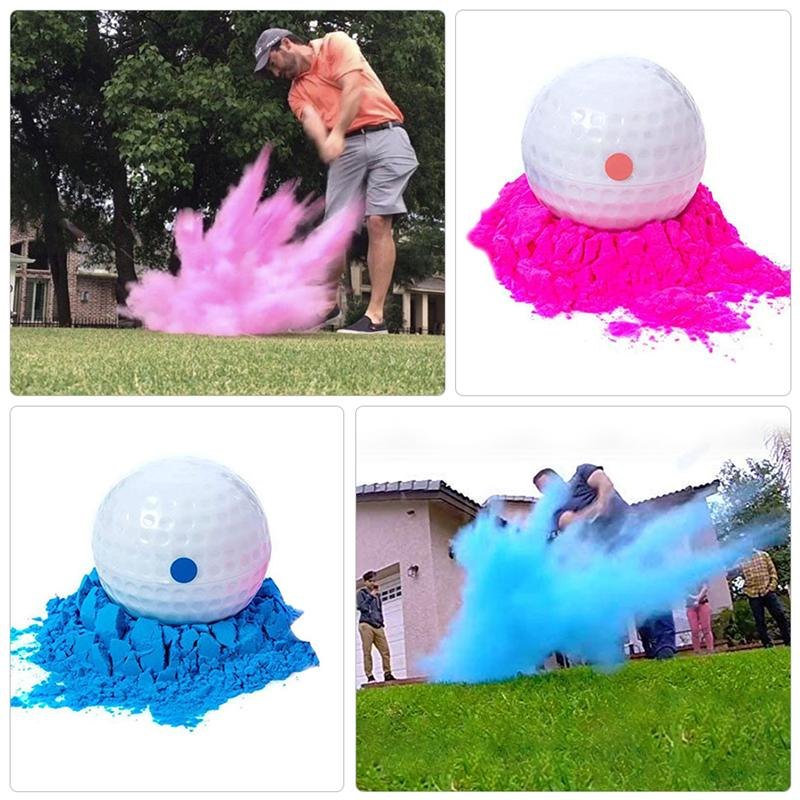 2Pcs Birthday Party Gender Reveal Powder Balls Banquet Smoke Powder Bombs The Gender Of PROM Supplie