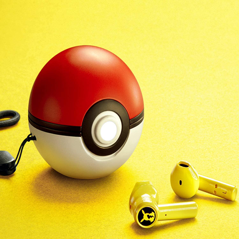 Poké-mon mini tws fones de ouvido-pikachu fone de ouvido bluetooth para xiaomi airdots 2 3 para samsung lenovo para pokeball carregamento