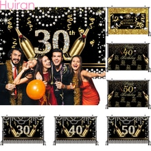 HUIRAN or noir ballons 30 40 50 ans acclamations à 30 ans ballons anniversaire 40 ans anniversaire 50 ans fête décoration fournitures