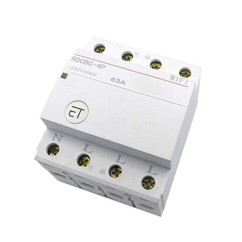 Disyuntor RDCBC-4P Din Rail Cemig WiFi controlado por Control remoto por EWeLink Control de voz Compatible con Alexa y Google Home