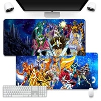 saint seiya anime office mice gamer soft mouse pad mouse pad company xl large keyboard pc desk mat takuo anti slip comfort pad