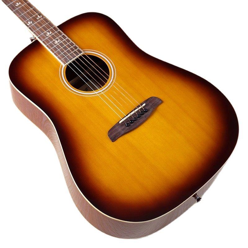 Sunburst Color Left Hand 41 Inch Acoustic Guitar Spruce Top Sapele Back&side Full Size Design High Gloss 6 Strings Guitar enlarge