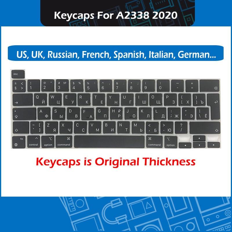 50 مجموعة/وحدة كمبيوتر محمول A2338 مفاتيح كيكابس ازرتي لماك بوك برو الشبكية 13